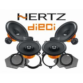 Pachet difuzoare auto Hertz Dieci dedicat Nissan Micra (2003 - 2020) Rame adaptoare