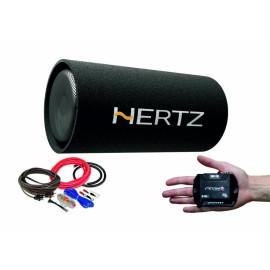 Pachet Subwoofer auto Hertz DST 30.3B + Amplificator Stetsom IR 280.1 + kit de cabluri complet