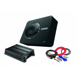 Pachet Subwoofer AUDISON APBX 8 DS + Amplificator Hertz D POWER 1 + kit de cabluri complet Subwoofere Auto