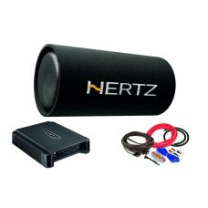 Pachet Subwoofer auto Hertz DST 30.3B + Amplificator Hertz HCP 2 + kit de cabluri