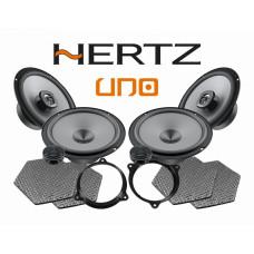 Pachet difuzoare auto Hertz Uno dedicat Nissan Primera (2002- 2007) Rame adaptoare