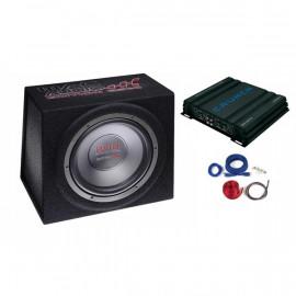 Pachet Subwoofer Mac Audio + Amplificator Crunch + CABLURI  Subwoofere Auto