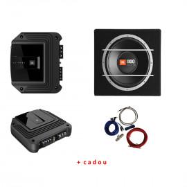 Pachet Amplificator JBL GX-A602+JBL CS1204B+Kit Bull Audio Subwoofere Auto
