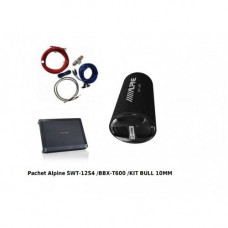 Pachet Subwoofer+Amplificator Alpine SWT-12S4/BBX-T600 Alpine